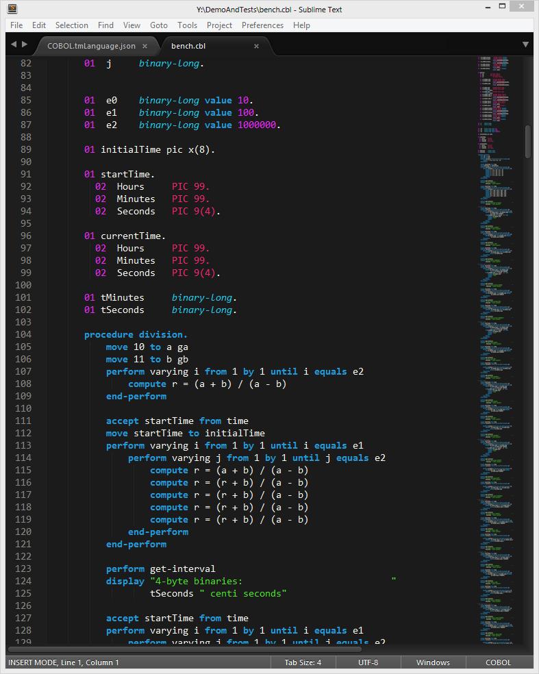 Cobol syntax - mainframe support